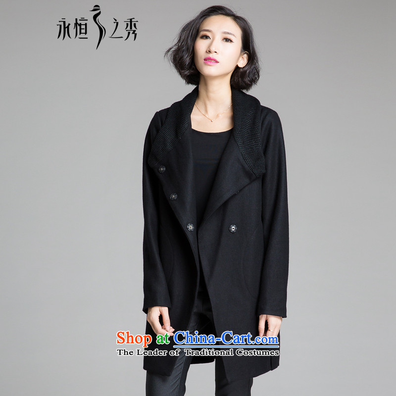 The Eternal Soo-XL women for winter coats? 2015 expertise gross mm sister Korean new people to thick video in thin long winter coats black jacket gross? 2XL