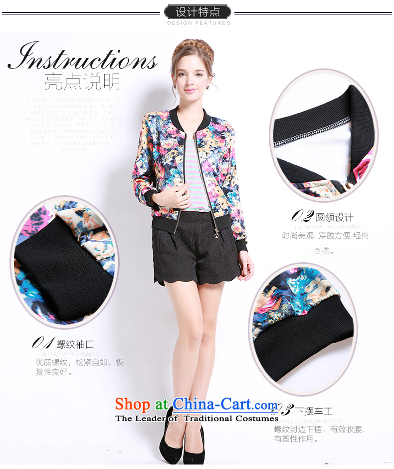Luo Shani flower girl jackets expertise code mm Mount to increase fall 200 catties thick sister sweater small cardigan bis 13243 floral 6XL picture, prices, brand platters! The elections are supplied in the national character of distribution, so action, buy now enjoy more preferential! As soon as possible.