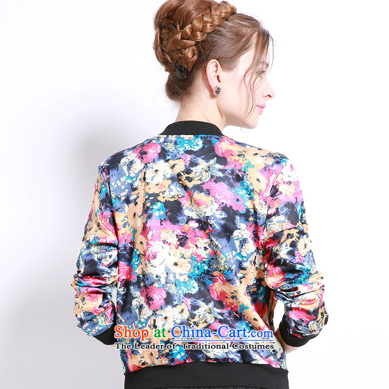 Luo Shani flower girl jackets expertise code mm Mount to increase fall 200 catties thick sister sweater small cardigan bis 13243 floral 6XL, shani flower sogni (D'oro) , , , shopping on the Internet