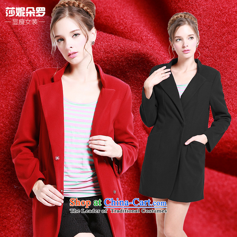 Luo Shani flower code women a jacket thick winter clothing to sister xl thick, Hin thin coat of 13239 Red 4XL