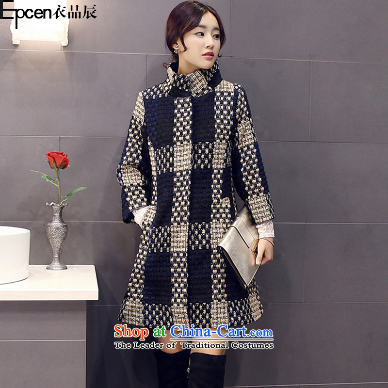 Yi Jin (epcen No. 2015) new products for winter female Korean version in the Sau San Long Seven-sleeved coats GD8109? Picture gross color XL