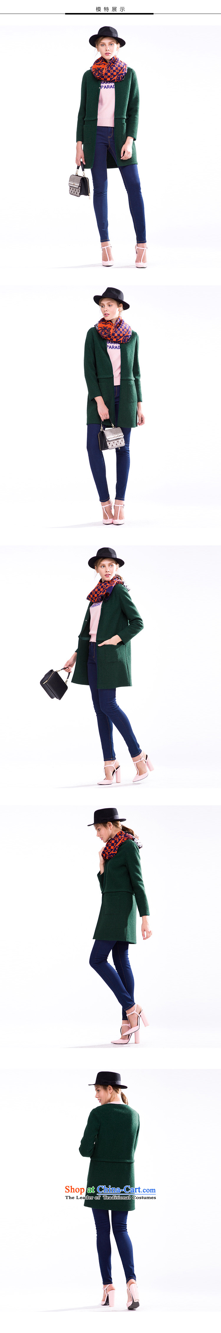 Song Leah GOELIA Women 2015 Autumn new direct body shape 15CR6E970 G91 coats emerald L picture, prices, brand platters! The elections are supplied in the national character of distribution, so action, buy now enjoy more preferential! As soon as possible.