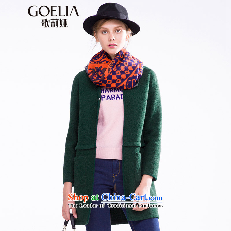 Song Leah GOELIA Women 2015 Autumn new direct body shape 15CR6E970 G91 coats emerald L