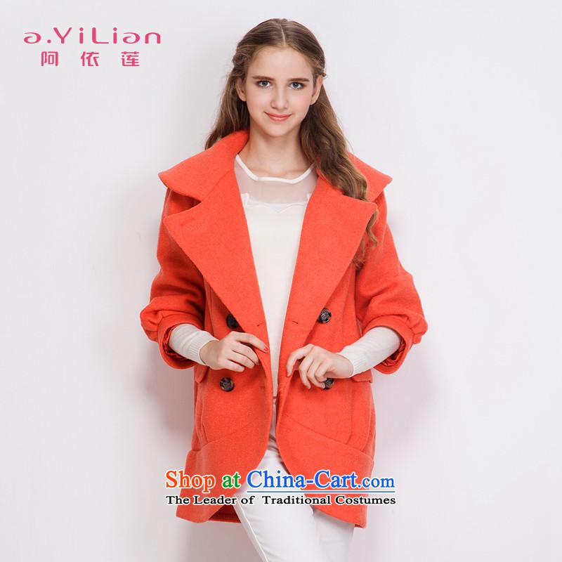 Aida 2015 Winter New Lin true colors, double-fashionable individual cocoon-wool coat jacket CA43397212? orange?M