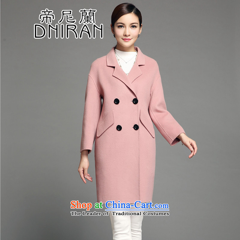 The Neelam gross? woolen coat two-sided female coats female non-cashmere overcoat female winter 2015 new gross? Long pink jacket in燤