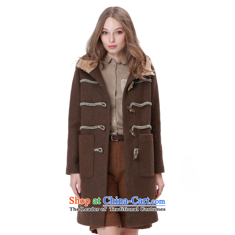 Mystery of the 2015 Winter new products commuter H type is a fisherman detained wool coat female 5DDD0807 gross? brown coffee _C39_ M