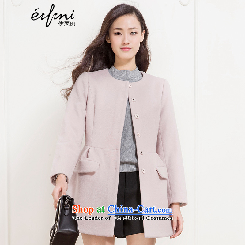 The elections as soon as possible of the Shang Xin Li 2015 winter clothing new products nude single row clip hair? coats Double Pocketed jacket 141113173151 gross??S nude