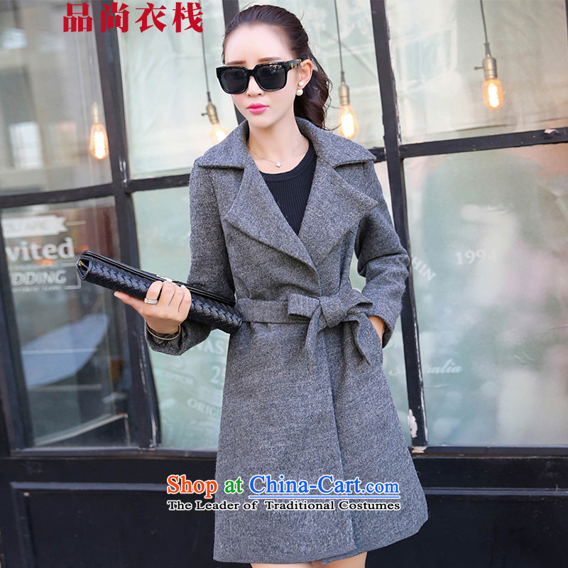 Products are by 2015 autumn and winter clothing stack new coats female jacket gross? PZZS1519 GRAY?M