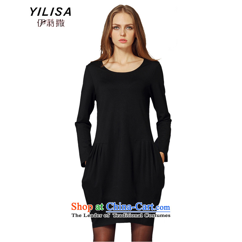 Elizabeth sub-XL to Europe and the women's dresses 200 catties thick mm Fall_Winter Collections forming the dresses temperament loose video thin A sub-skirt 823 Black�L 145-165 recommended weight catty
