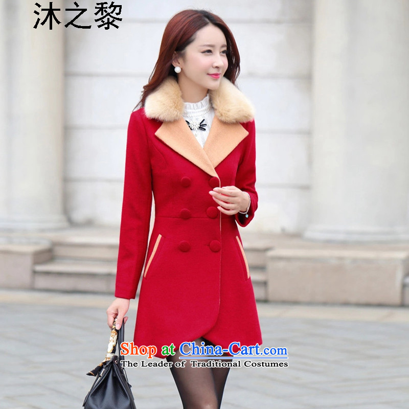 Bathing in the autumn and winter of 2015, Lai New_ long hair? larger female jackets�05燫ed燲L