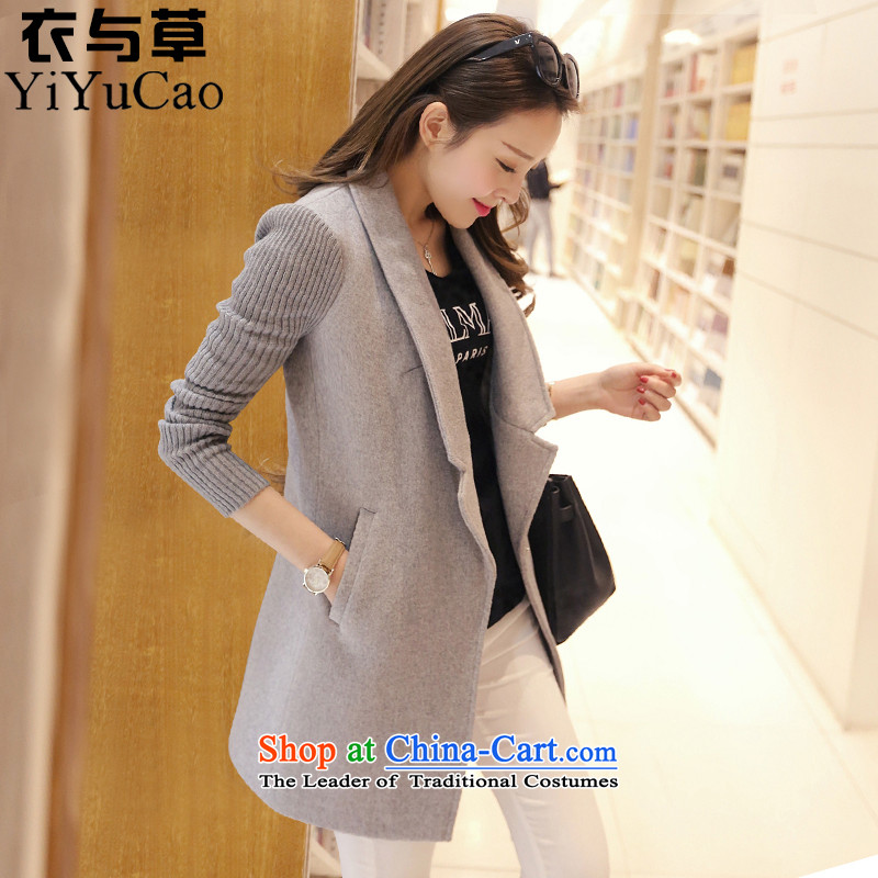 Yi with grass women on new coats winter?_ in 2015, the new girls long coats gross?? jacket women female gross a wool coat autumn and winter coats?S daughter Ni