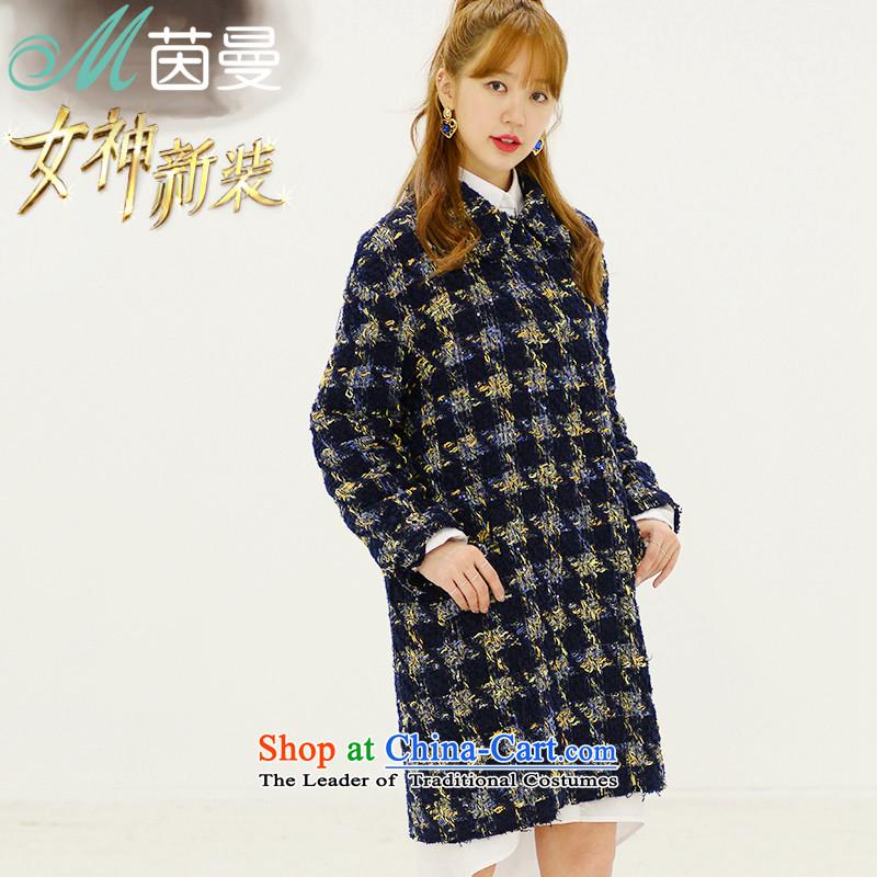 The goddess of the Cayman reinserted Athena Chu Grace with chidori of Athena Chu Cayman?? jacket coat girl _8533210616- deep blueM.