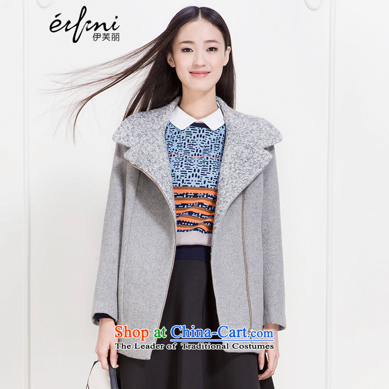 The elections as soon as possible of the Shang Xin Li 2015 winter clothing new products lapel Zip Jacket in long?? coats 141122373741 gross light gray M