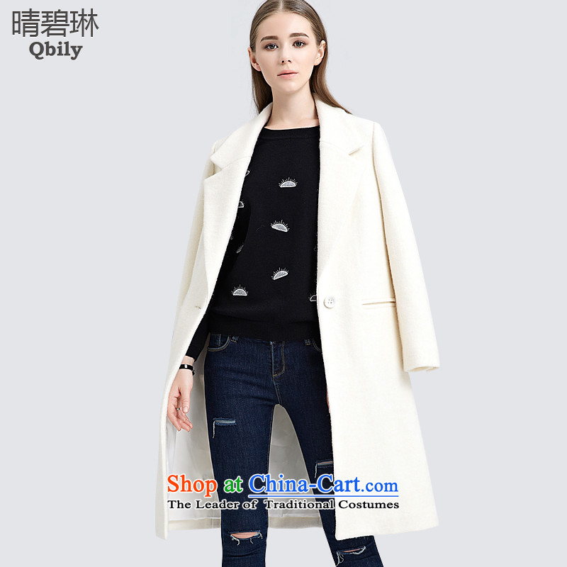 Sunny autumn 2015 Load Lin Pi-new products-minded women make a deduction for long-sleeved minimalist long white jacket? gross XS