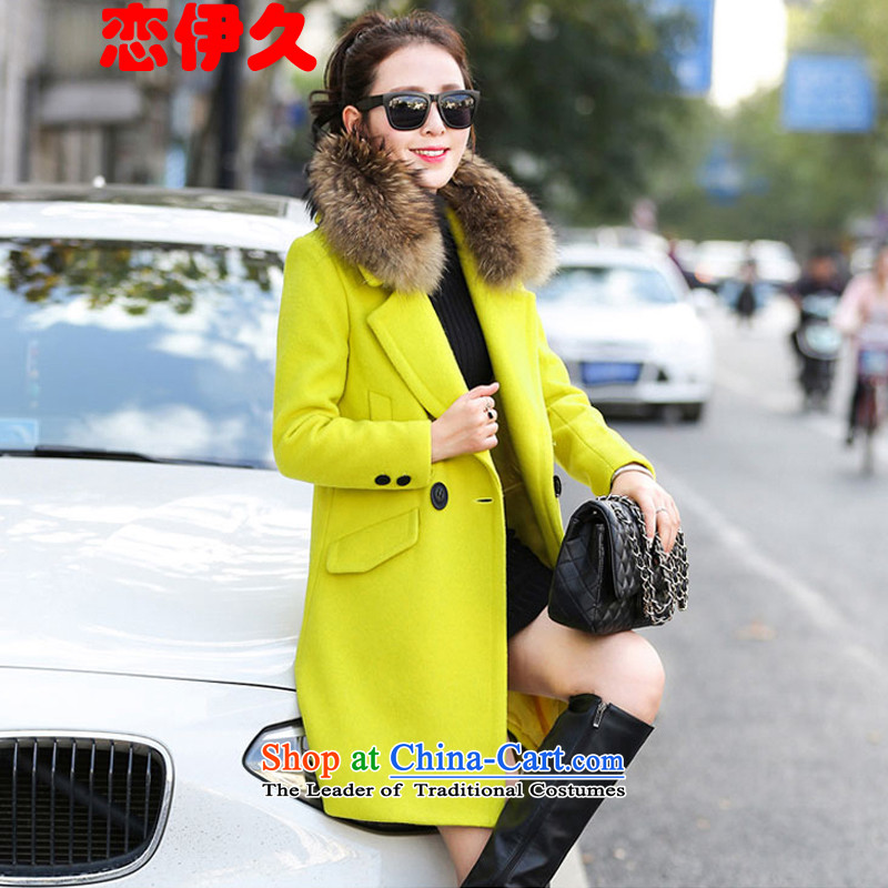 The land of the long winter 2015 new coats female Gross Gross?? jacket female grass green _no gross for_ L