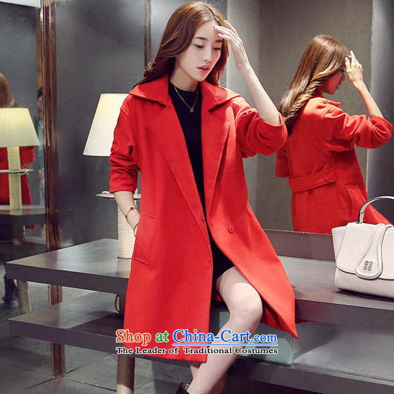 Sau San video thin aristocratic gross? overcoat red S