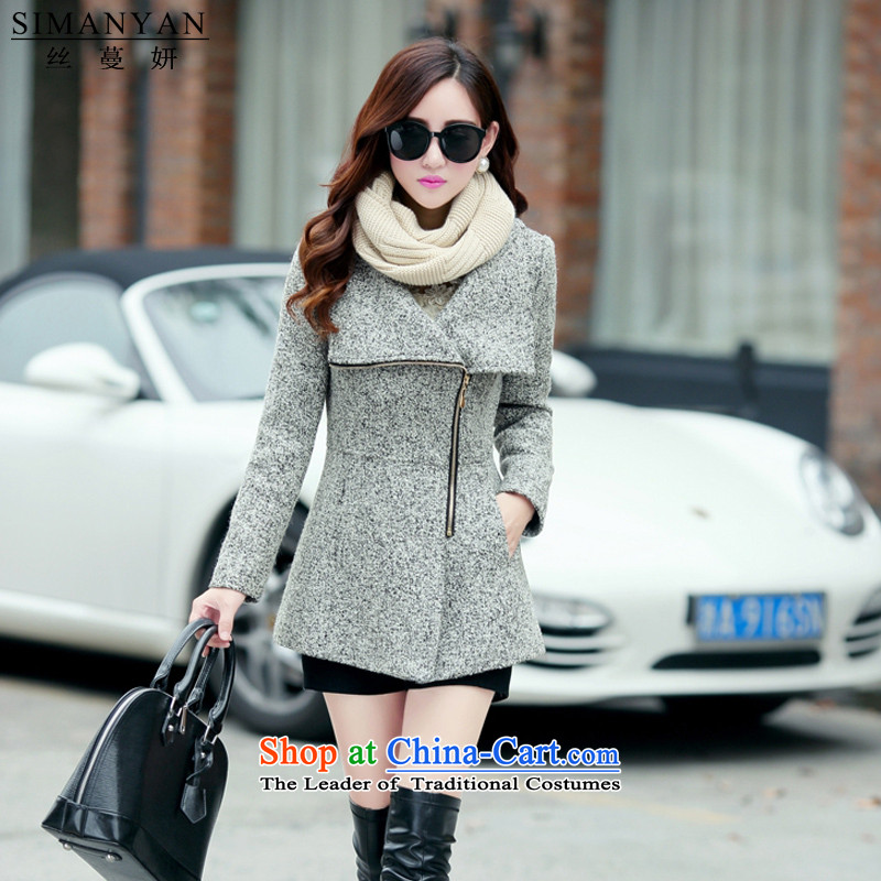 Population燽y 2015 winter temperament Overgrown Tomb Yeon larger women in plush coat female Sau San video? Thin Couture fashion� s9540燣ight Gray燣