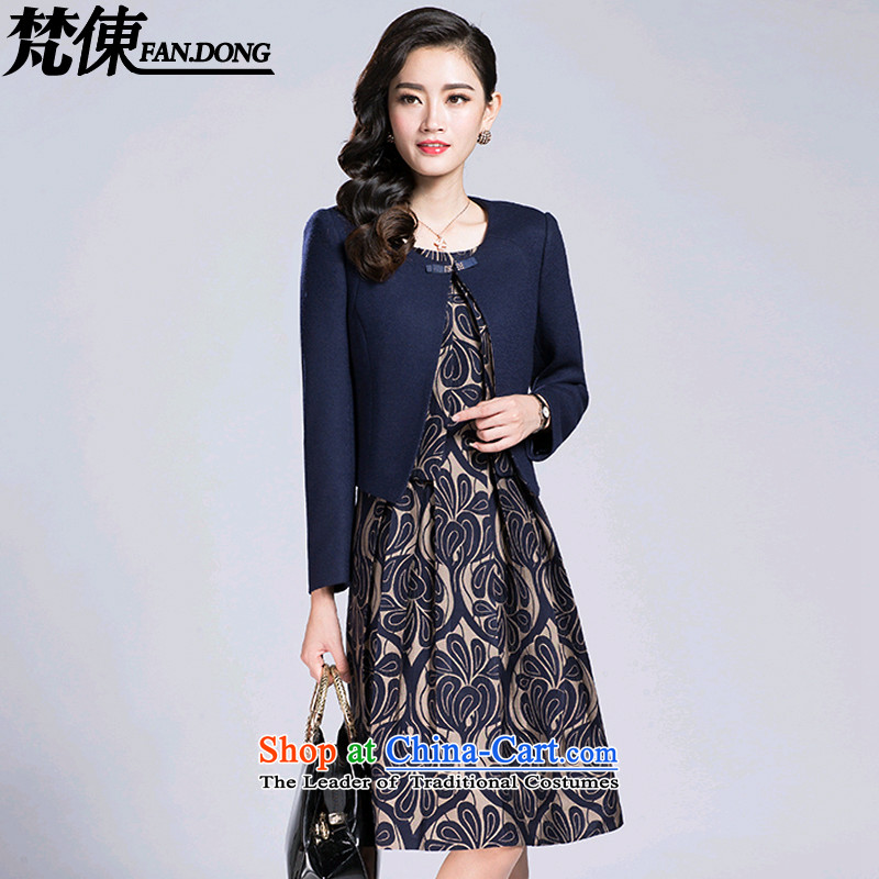 Van Gogh ? larger female autumn and winter long-sleeved dresses in older MOM pack kit thick coat in long hair? female 108 picture color coats 2XL