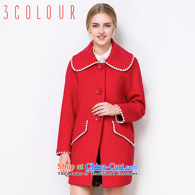 -3- is designed for multimedia new 2015 winter clothing embroidery in the fringe plush coat D542041D00? female red�5_80A_S
