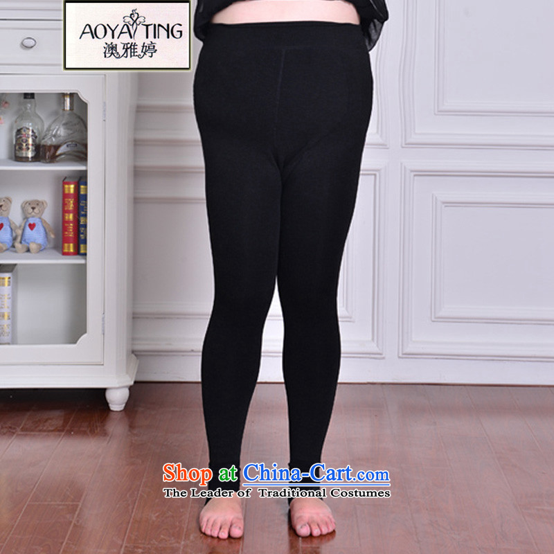 O Ya-ting to xl female autumn and winter new 200 catties thick mm video plus lint-free thick forming the thin trousers socks soft warm trousers 1573 ultra pure black aggressive will recommend that you 120 catties-250 catty