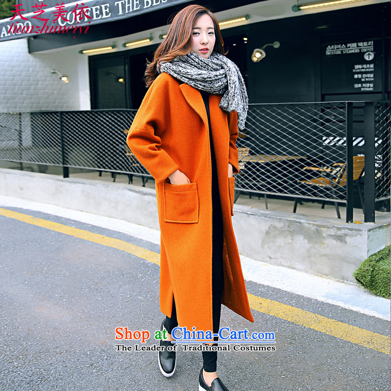 In accordance with the gross Ji-mi days? 2015 new female jacket autumn long, temperament a wool coat Korean women? coats thick coat燗963燨range Red燤