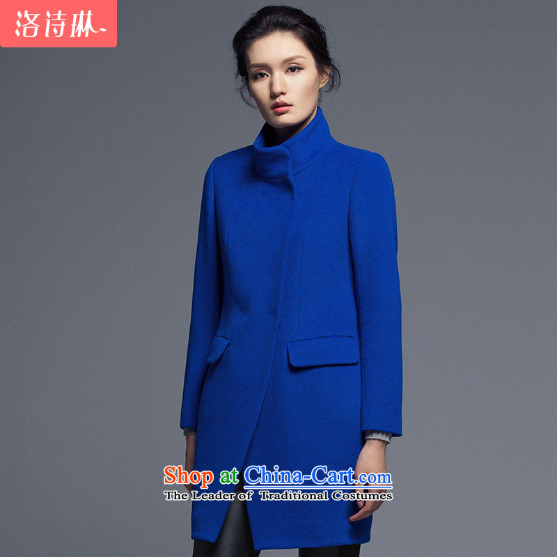 The poem Lin2015 LUXLEAD winter clothing new products collar double-small O-video thin, long gross blue coat?S
