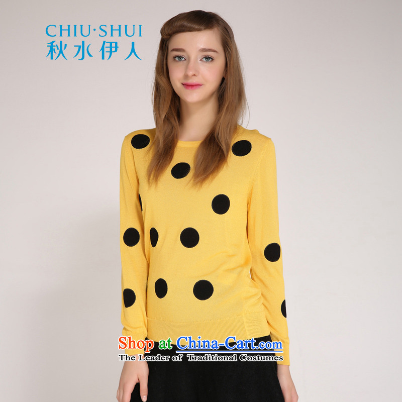 Chaplain who winter clothing new women's stylish suite and round-neck collar minimalist wild wave of surface mount point knitting sweater Sau San orange�5_88A_L