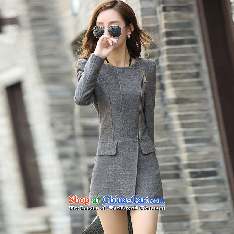 Yi Jin Long in products Sau San female jacket light gray GD2601 S code