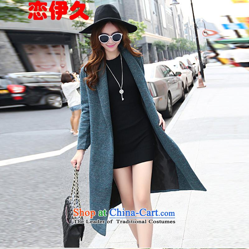 The land of the long-awaited autumn 2015 gross?? jacket coat female Hair Girl blue燣