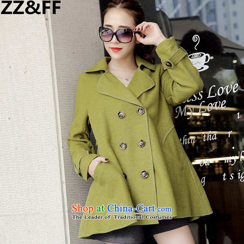 2015 mm thick autumn Zz_ff winter clothing won New Edition to increase the number of women with loose coat jacket green聽XXXXXL gross?