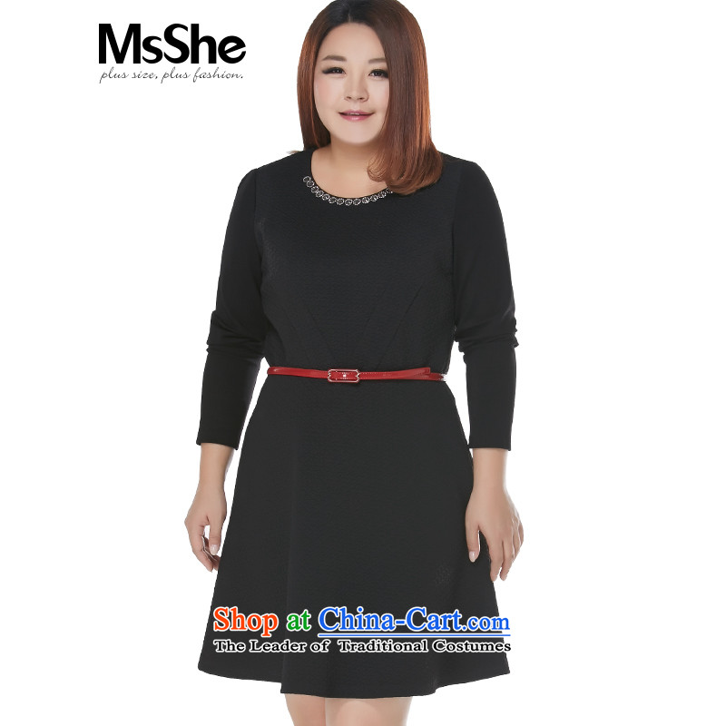 To increase the number msshe women 2015 New Fall_Winter Collections thick black pearl nail MM dresses 10837�L black