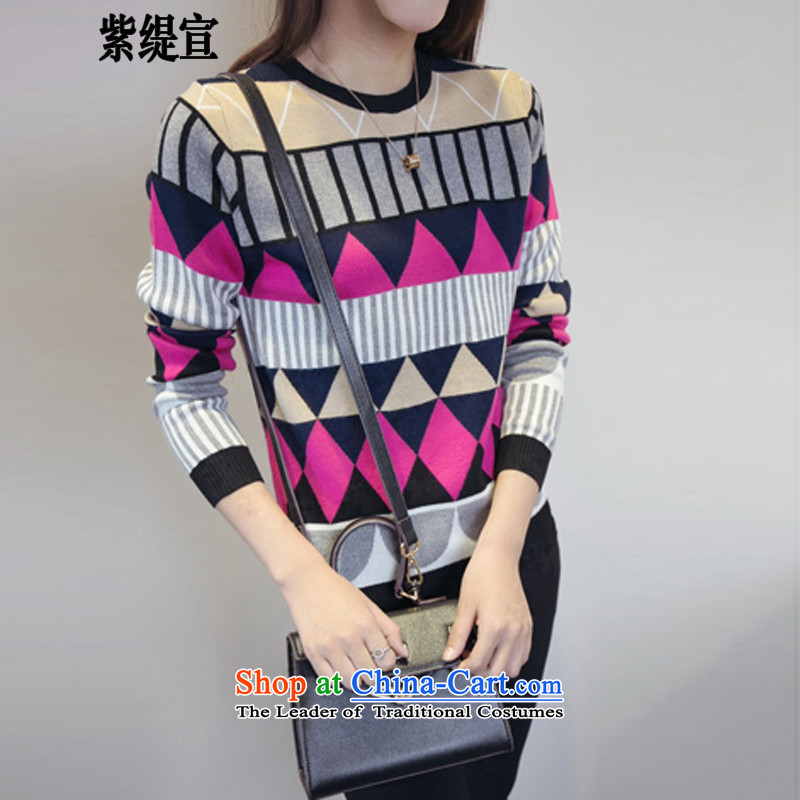 The first declared as thick mm sweater autumn add fertilizer xl female Korean version of thin long-sleeved shirt Knitted Shirt D6222 3XL ._ suit around 922.747 150 - 160131
