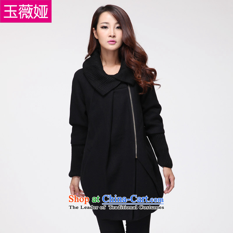 The Hon Audrey Eu Yuet-yu ya larger women 2015 winter clothing in mm long, thick hair? coat to increase female black�L Jacket