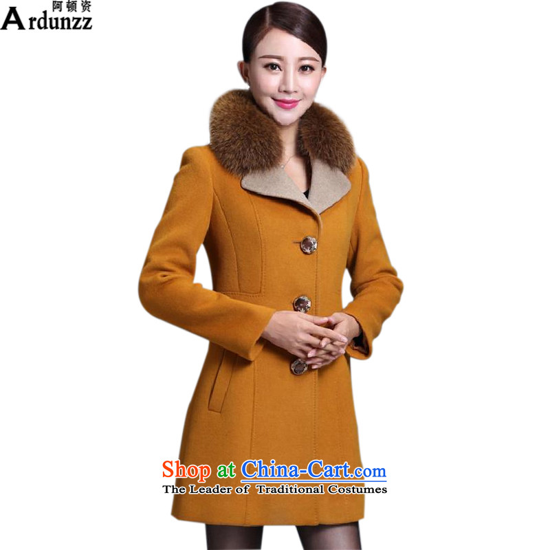 Clinton for a Winter 2015 gross? for Sau San graphics on the Nagymaros coats thin hair? girls jacket long Yellow 8008 XL