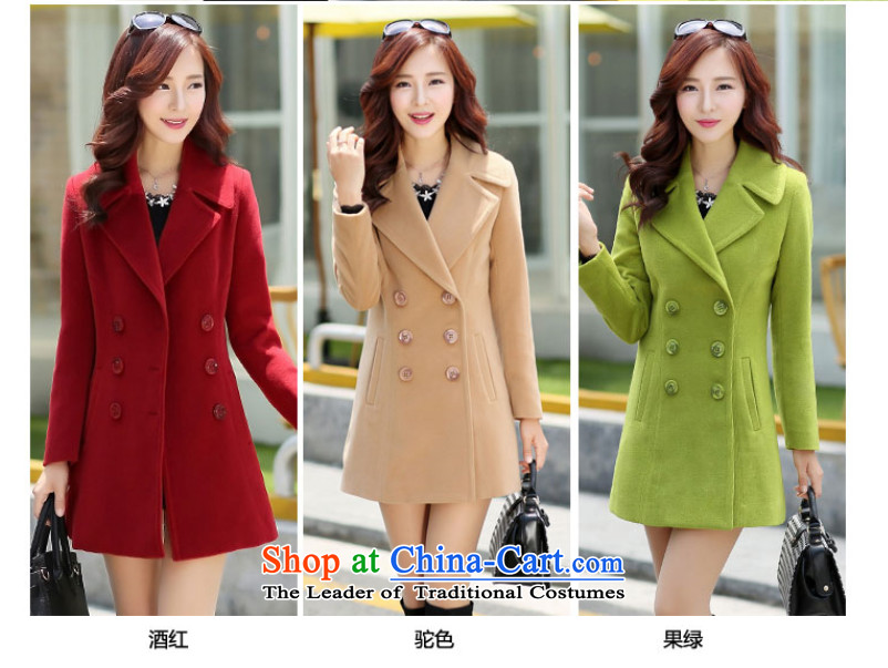 The cashmere cloak about desecrated by the autumn of 2015, replacing the new Korean version of Sau San video thin double-jacket female聽6,698 cluster bomb sub gross?聽wine red聽XXL picture, prices, brand platters! The elections are supplied in the national character of distribution, so action, buy now enjoy more preferential! As soon as possible.