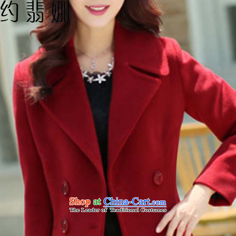 The cashmere cloak about desecrated by the autumn of 2015, replacing the new Korean version of Sau San video thin double-jacket female聽6,698 cluster bomb sub gross?聽wine red聽XXL, approximately eight of the , , , shopping on the Internet