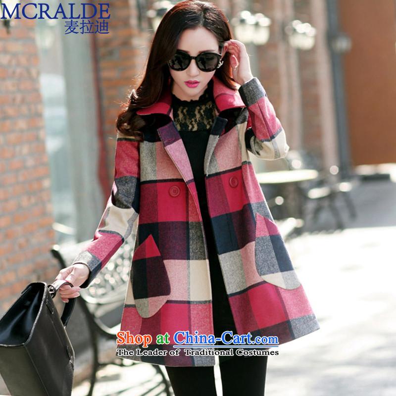 Mr Elbaradei? 2015 autumn and winter coats female new medium to long term, large female Korean Sau San Mao a wool coat girl-refined 5,657 XL