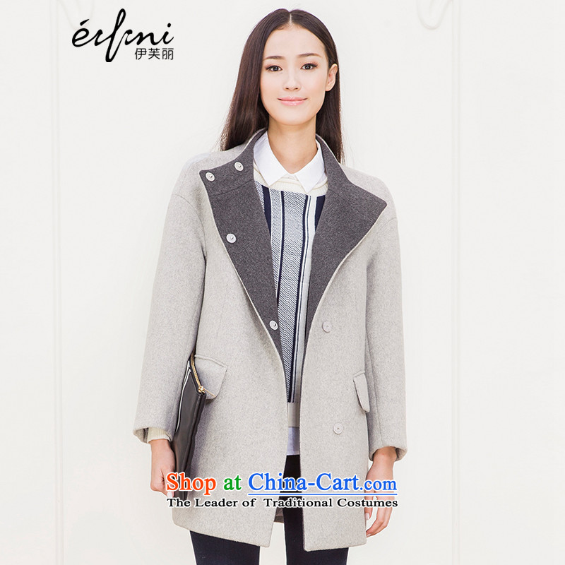 Of the 2015 winter clothing new Lai) long hair? female double-side wool jacket coat 6580847205??S Light Gray