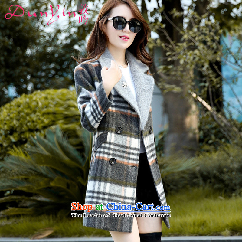 Freetown to recite the autumn and winter 2015 new gross jacket female loose thickened about Korean version of Sau San-coats DY-516 gross? gray cells燣