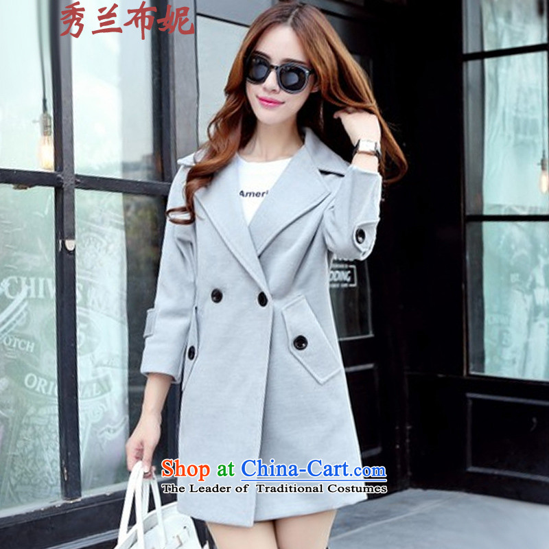 Miss Cyd HO, Connie�15 autumn and winter coats gross New girl? long gray燣