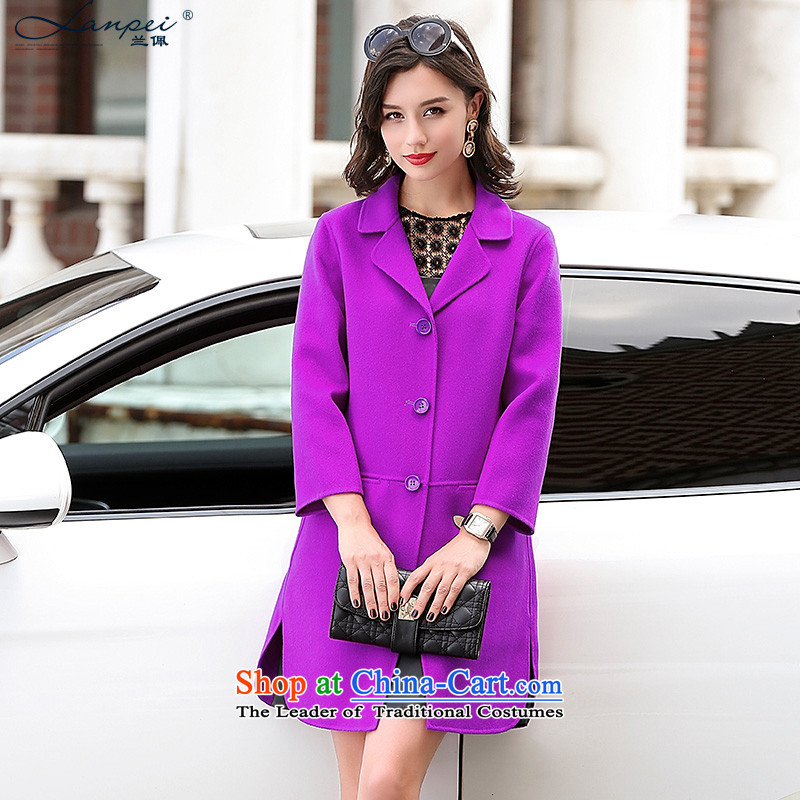 In the?autumn of 2015, the new Pei double-side in the medium to long term, Ms. coats wool sheep jacket? woolen coat Mudan Red?M