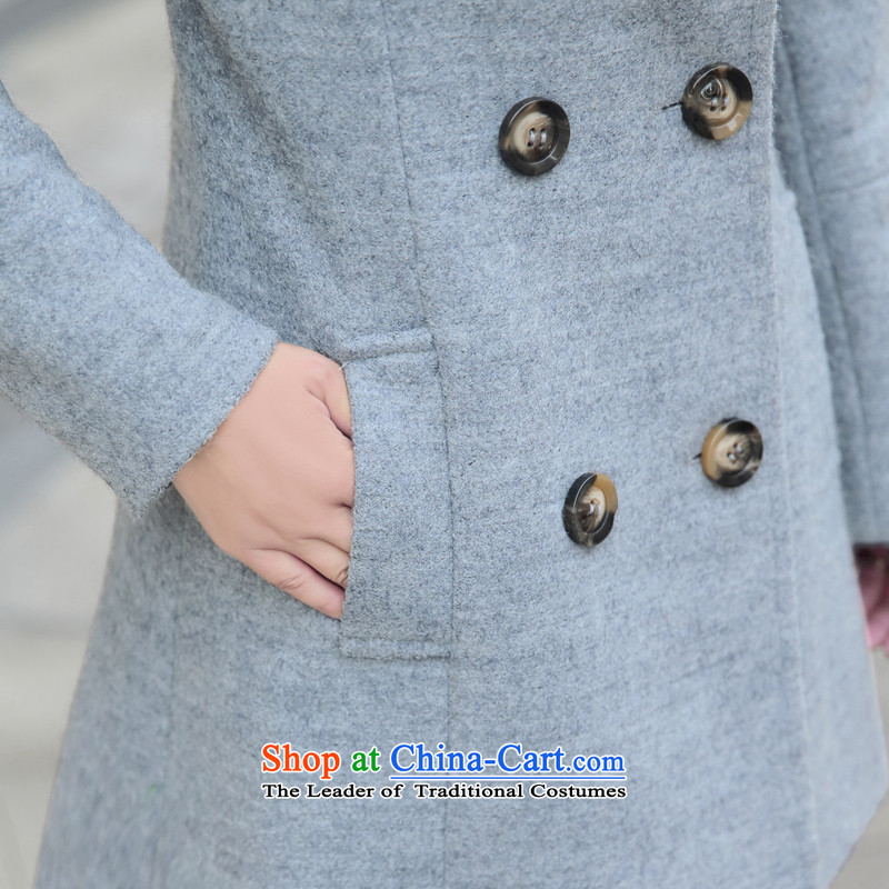 Yi of the Kingdom of 2015 autumn and winter)? a wool coat in the jacket? long hair)? coats larger female new gray XL Photo, prices, brand platters! The elections are supplied in the national character of distribution, so action, buy now enjoy more preferential! As soon as possible.
