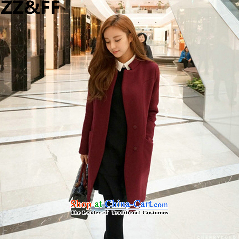 The new 2015 Zz_ff to xl female autumn and winter video thin thick mm200 Sau San catties a wool coat grossXXXXL_ wine Red Jacket is recommended 160-180 catties_
