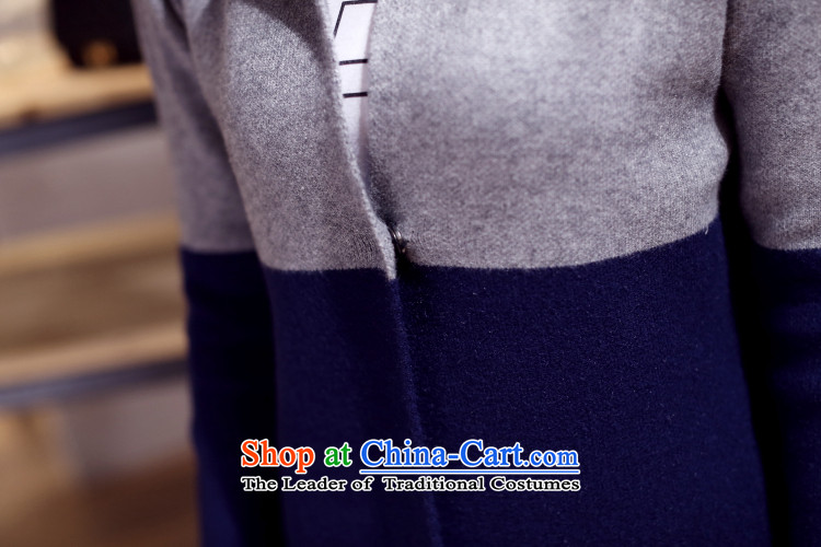 In 2015, the centers sister Zz&ff long cardigan knitwear autumn and winter new to increase women's code thick mm sweater cardigan jacket Navy Blue + greenXL Photo, prices, brand platters! The elections are supplied in the national character of distribution, so action, buy now enjoy more preferential! As soon as possible.