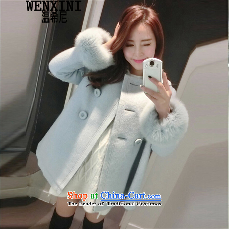 Temperature,�15 autumn and winter new sweet girl students, faculty wind in gross? coats of large relaxd cloak a jacket female gross 2,005 PREPPY燬