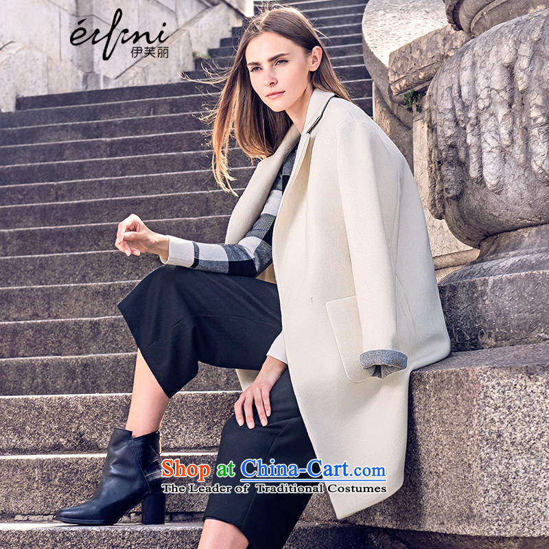 El Boothroyd 2015 autumn and winter new Korean version in pure color long coats female 6580957654 girl? This white S