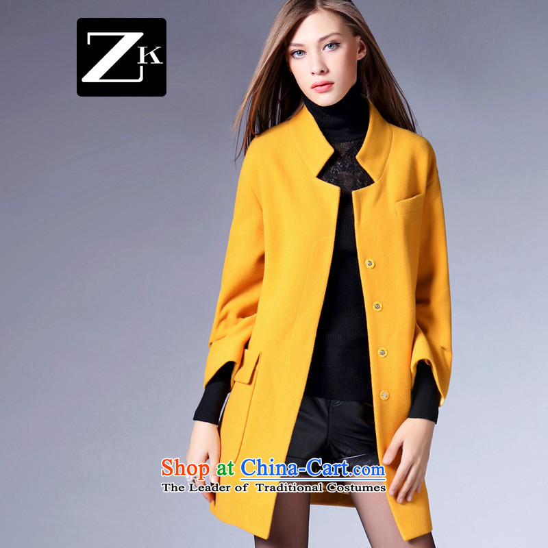 Zk Western women 2015 Fall_Winter Collections new stylish collar jacket in gross? long graphics thin a Sau San coats orange L