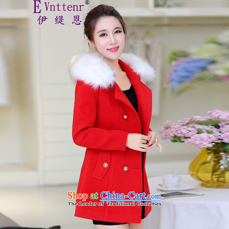 Iran and isle of 2015 winter New Women Korean Sau San double-Wild hair for Long Hair Girl red) jacket? L