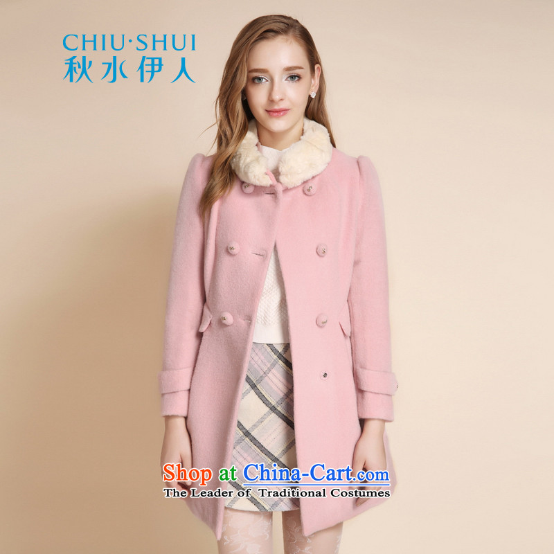 Chaplain who winter clothing new women's stylish gross for double-wool warm jacket coat of Sau San Mao pink聽170_92A_XL?