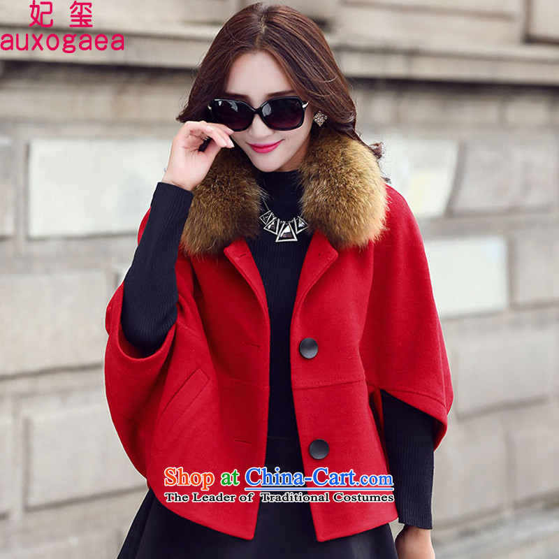 Princess Royal Seal 2015 Fall/Winter Collections new liberal video thin bat sleeves Doo-fung gross?) Ms. Short jacket a wool coat 96682 RED? M